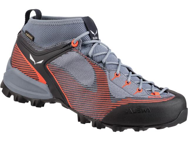 brand new 075e5 75ea9 SALEWA Alpenviolet GTX Shoes Damen blue fog/fluo coral